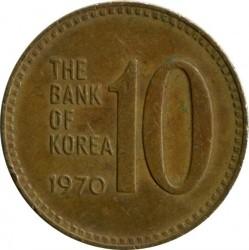 Кованица > 10вона, 1966-1970 - Јужна Кореја  - obverse