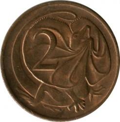 Кованица > 2цента, 1966-1984 - Аустралија  - obverse