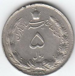 Moneda > 5riales, 1958-1959 - Irán  - obverse
