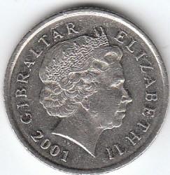 מטבע > 10פנס, 1998-2003 - גיברלטר  - obverse