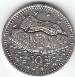 Moneda > 10peniques, 1998-2003 - Gibraltar  - obverse