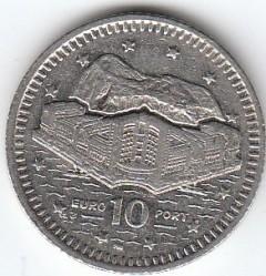 מטבע > 10פנס, 1998-2003 - גיברלטר  - reverse