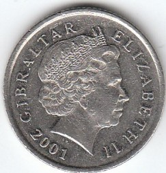 Moneda > 10peniques, 1998-2003 - Gibraltar  - reverse