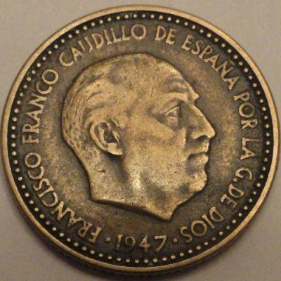 Una peseta 1947 цена 100 крым тираж