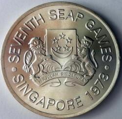 Moneta > 5dollari, 1973 - Singapore  (VII Giochi del Sudest asiatico) - obverse