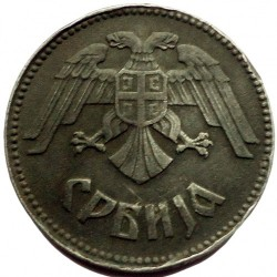 Moneta > 10dinarów, 1943 - Serbia  - obverse