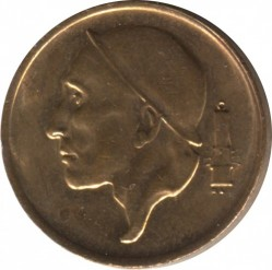 Coin > 50 centimes, 1970 - Belgium  (Legend in French - 'BELGIQUE') - obverse