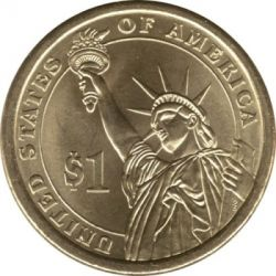 Coin > 1 dollar, 2008 - USA  (President of the USA - James Monroe (1817-1825)) - reverse