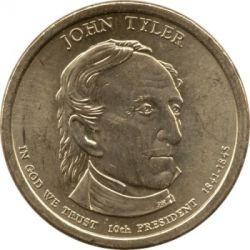 Монета > 1долар, 2009 - США  (Президент США - Джон Тайлер (1841-1845)) - obverse