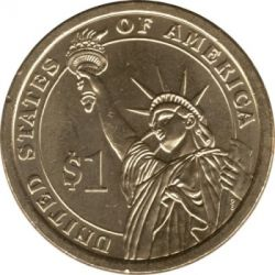 Монета > 1долар, 2009 - США  (Президент США - Джон Тайлер (1841-1845)) - reverse