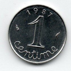 Coin > 1 centime, 1987 - France  - reverse