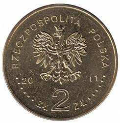 Монета > 2злотых, 2011 - Польша  (Беатификации Папы Римского Иоанна Павла II) - obverse