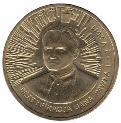 Монета > 2злотых, 2011 - Польша  (Беатификации Папы Римского Иоанна Павла II) - reverse