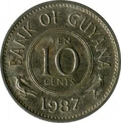 Minca > 10cents, 1987 - Guyana  - reverse