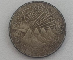 Moeda > 5centavos, 1972 - Nicarágua  - reverse
