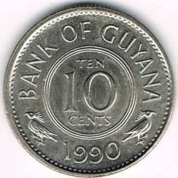 Moneda > 10cents, 1967-1992 - Guyana  - obverse