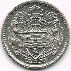 Moneda > 10cents, 1967-1992 - Guyana  - reverse