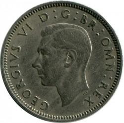 錢幣 > 1先令, 1949-1951 - 英國  (Scottish crest, lion seated face-on atop the crown) - reverse