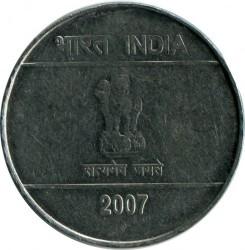 Moneta > 5rupii, 2007-2008 - Indie  - obverse