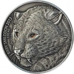 Монета > 1000франков, 2013 - Буркина Фасо  (Детёныш смилодона) - reverse