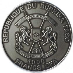 Монета > 1000франков, 2013 - Буркина Фасо  (Смилодон) - obverse
