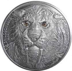 Монета > 1000франков, 2013 - Буркина Фасо  (Смилодон) - reverse