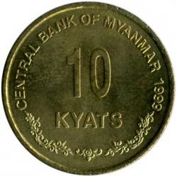 Moneta > 10kyats, 1999 - Myanmar  - obverse