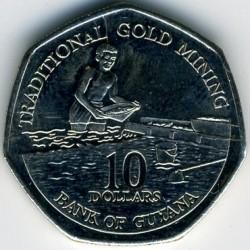 Moeda > 10Dólares, 1996-2018 - Guiana  - obverse