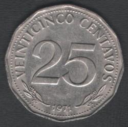 Moneta > 25sentavai, 1971-1972 - Bolivija  - reverse
