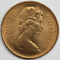 Coin > ½newpenny, 1971-1981 - United Kingdom  - obverse