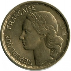 Монета > 20франка, 1950 - Франция  (Signature 'GEORGES GUIRAUD' in two lines) - reverse