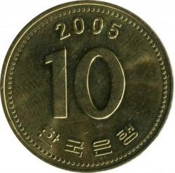 Moeda > 10won, 1983-2006 - Coreia do Sul  - obverse