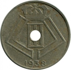 Minca > 10centimes, 1938-1939 - Belgicko  (Legend - 'BELGIQUE - BELGIE') - reverse