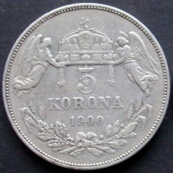 Монета > 5крон, 1900-1909 - Венгрия  - reverse