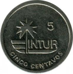 מטבע > 5סנטאבו, 1989 - קובה  (INTUR: Magnetic) - reverse