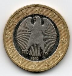 Moneta > 1euras, 2010 - Vokietija  - obverse