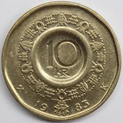 Mynt > 10kroner, 1983-1991 - Norge  - reverse