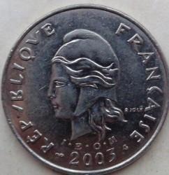 Монета > 50франков, 1975-2006 - Французская Полинезия  - obverse