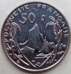 Монета > 50франков, 1975-2006 - Французская Полинезия  - reverse