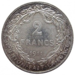 Münze > 2 Franken, 1910-1912 - Belgien  (Legend in French - 'ALBERT ROI DES BELGES') - obverse