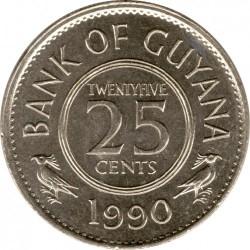 Монета > 25центів, 1967-1992 - Гайана  - reverse