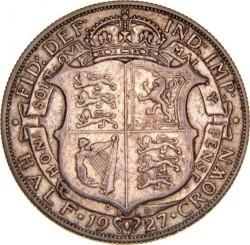 Moeda > ½coroa, 1927 - Reino Unido  - reverse