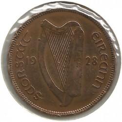 Moeda > ½pence, 1928-1937 - Irlanda  - reverse