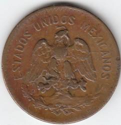 Monedă > 20centavo, 1920 - Mexic  (Bronze /brown color/) - obverse