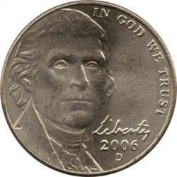 Moneta > 5centesimi, 2006-2019 - USA  (Jefferson nickel ) - obverse
