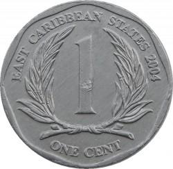 Minca > 1cent, 2002-2013 - Východný Karibik  - reverse