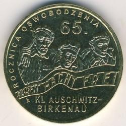 Moneda > 2zlote, 2010 - Polonia  (65 aniversario -Liberación de KL Auschwitz-Birkenau) - reverse