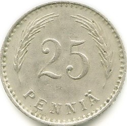 Münze > 25Penny, 1921 - Finnland  - reverse