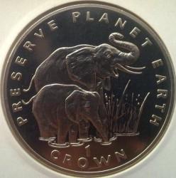 Moneta > 1corona, 1994 - Gibilterra  (Preservare il pianeta terra - Elefante ) - reverse