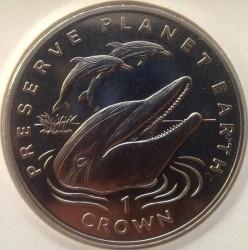 Moneta > 1corona, 1994 - Gibilterra  (Preservare il pianeta terra - Stenella striata) - reverse